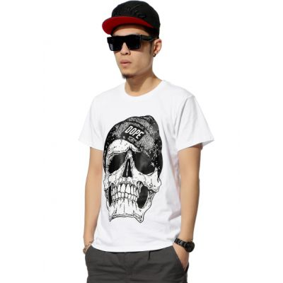 T shirt Skull Bonnet Dope Swag Crâne Squelette
