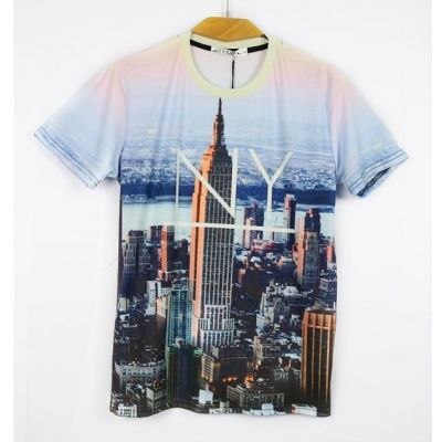 T shirt Slim New York Skyline Empire State Building Manhattan