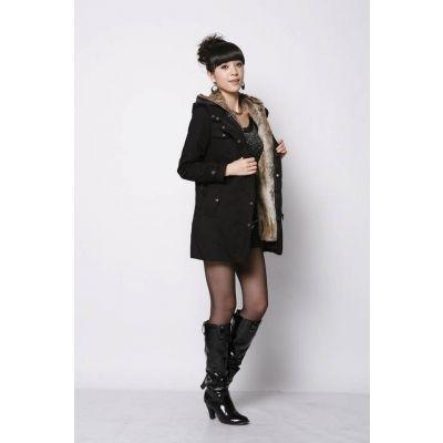 Manteau long pour femme avec capuche et ceinture