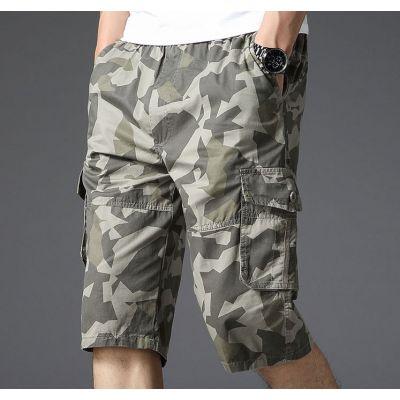 Bermuda Homme Motif Camo Militaire Pantacourt Camouflage