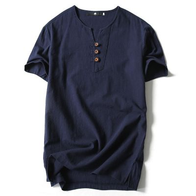 Tee-shirt homme col ouvert