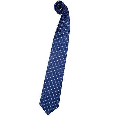 Cravate en soie bleue à pois bleu ciel et blanc
