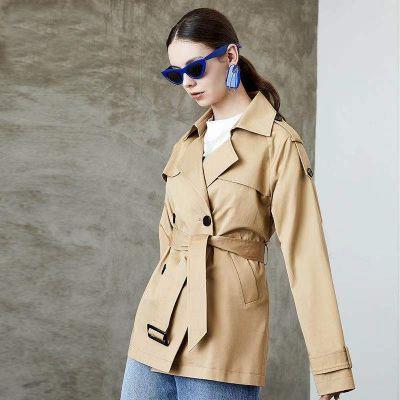 Trench-coat court classique pour femme