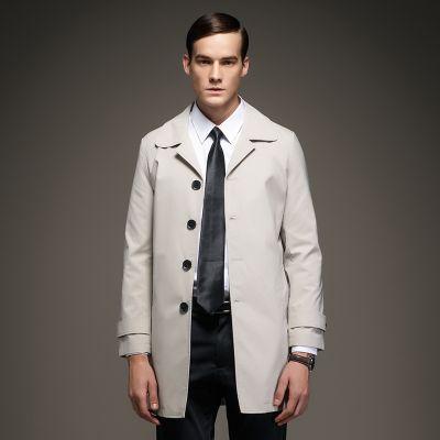 Trench pour Homme Manteau Imperméable Cintré Classique