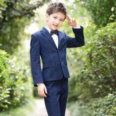 Veste blazer costume 3 pièces à carreaux pour garçon enfant