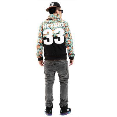 Veste Coupe Vent Homme Streetwear Bicolore Motif Fleuri