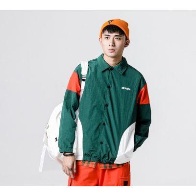 Veste coupe vent retro sportswear pour homme avec visuel imprimé au dos