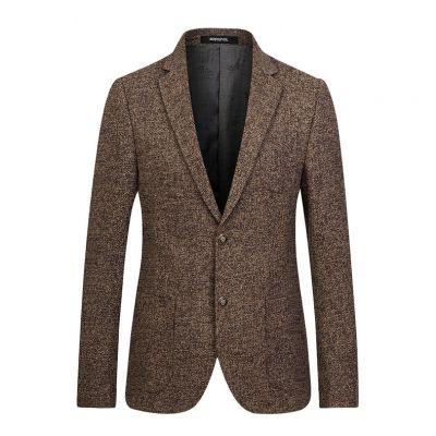 Veste de costume en tricot herringbone pour homme blazer hiver