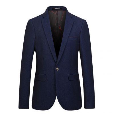 Veste de costume hiver slim pour homme avec bouton unique