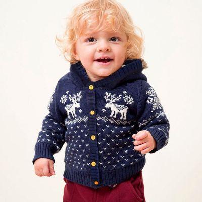 Veste doublée fourrure pour enfant avec motif cerf Noël