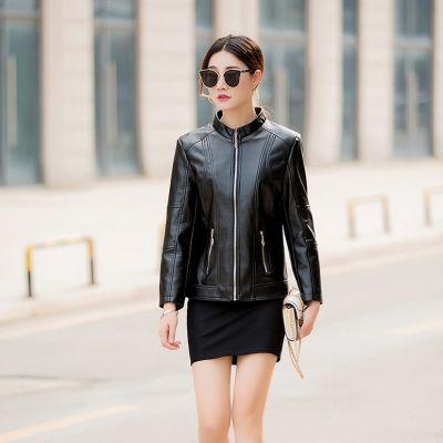 Veste en simili cuir pour femme avec doublure coton épais