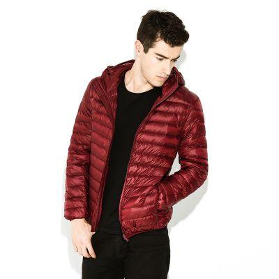 Veste matelassée hiver à capuche brillante pour homme