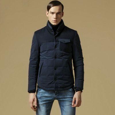 Veste matelassée hiver pour homme avec épaules 2 tons