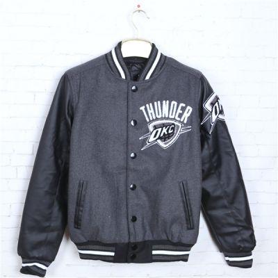 Veste Teddy Oklahoma City Thunder NBA pour Homme manches cuir