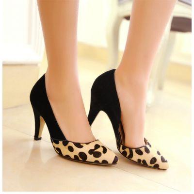 Chaussures mocassins pour femmes avec lanière cuir - design léopard