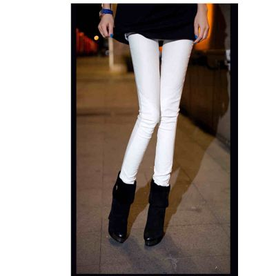 Leggings moulants collants pour femme en coton elasthane