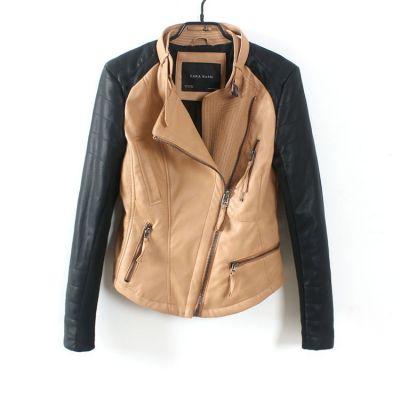 Blouson Perfecto simili cuir femme bicolore manches noires