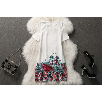 Robe pour femme avec motif à fleurs sur le bas fashion 2014