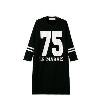 Robe swag baseball numéro 75 Marais pour femme streetwear