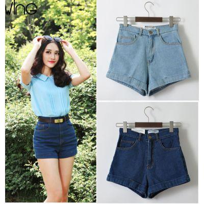 Short court en jeans pour femme taille haute rétro fashion