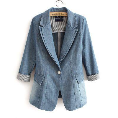 Blazer en jeans veste denim pour femme tendance printemps 2014