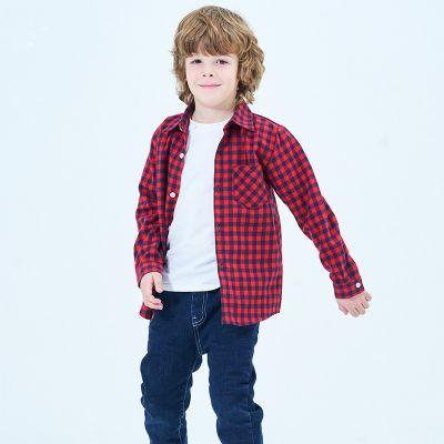 Chemise à carreaux unisex pour enfants