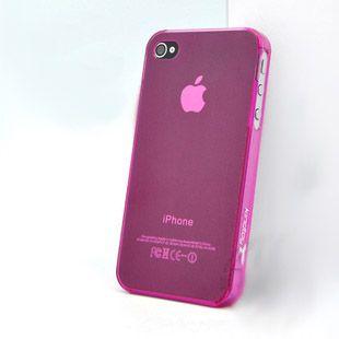 Coque pour iPhone 4S 4 Apple Housse en Plastique souple couleur unie