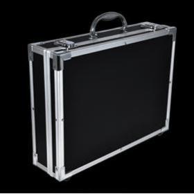 Flight case pour micro equipment home studio – noire