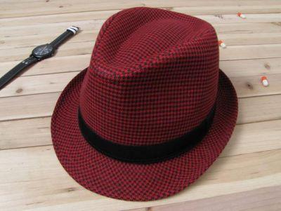 Chapeau gangster old school style années 1930 avec motif