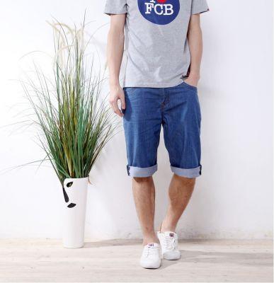 Bermuda en Jeans pour Homme Classique Blue Denim