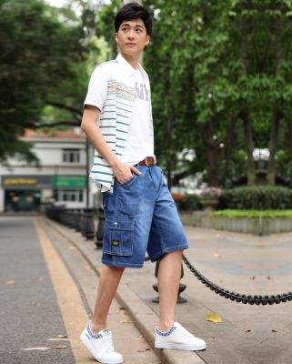 Bermuda Homme en Jeans avec Double Poche Côté