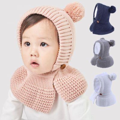 Bonnet en laine pour enfant protège-oreilles et cou
