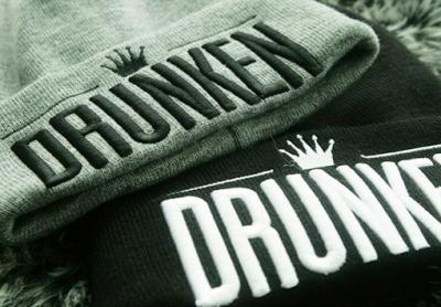 Bonnet Drunken Crown Broderie pour Homme Femme Streetwear Hiver