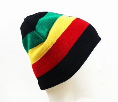 Bonnet Jamaïque Vert Jaune Rouge Reggae Rasta