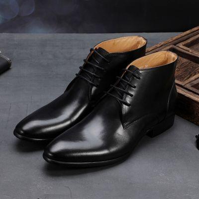 Bottines cuir homme avec lacets derbys vintage chic