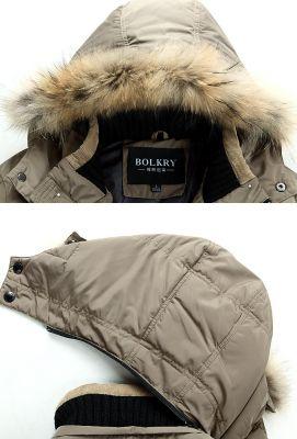 Manteau d'hiver long pour homme avec capuche lignée fourrure