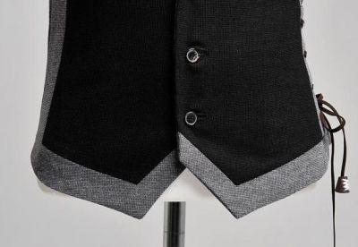 Gilet sans manche fashion pour homme avec laçage côté gauche
