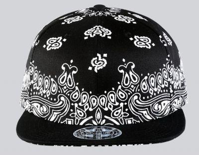 Casquette Streetwear US Hip Hop avec Motif Paisley Imprimé
