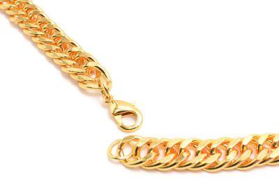 Chaine en Or Plaquée Longue 90 cm dorée pour homme ou femme