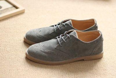 Chaussures Richelieu Homme Vintage avec Perforations Décoratives
