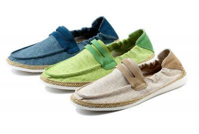 Chaussures Slip On Eté avec Couleurs Deux Tons Bande Avant