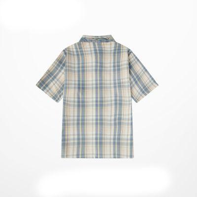 Chemise à carreaux manches courtes homme