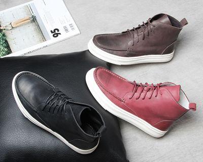 Chukka Boots sport pour homme en cuir premium semelle blanche
