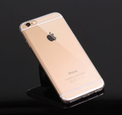 Coque iPhone 6 ou 6 Plus, Argent Noir ou Or Uni