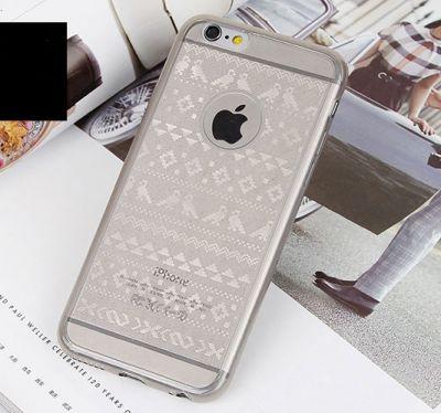 coque iphone 6 ou 6 plus motif hiver etoiles retro argent noir or acip024 02