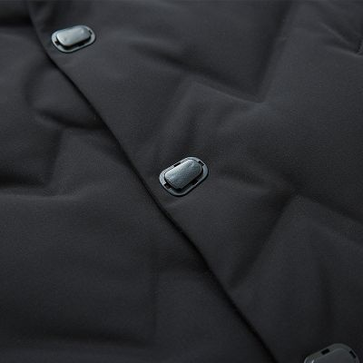 Doudoune à capuche chaude pour homme couleur unie