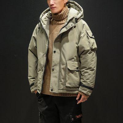 Doudoune épaisse à capuche pour homme avec multiple poches