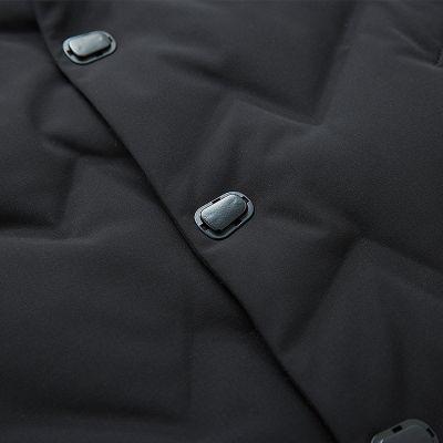 Doudoune épaisse à capuche pour hommes mi-longue