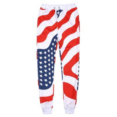 Ensemble survêtement Drapeau Americain pour homme Pull Pantalon