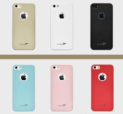 Etui iPhone 5 ou 5S Couleur Unie Protection avec Pomme Arrière
